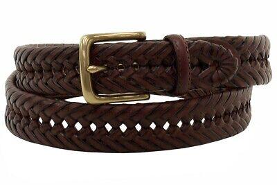Tommy Hilfiger Men's Brown Whip Lace Braided Belt Brown Braided Belt