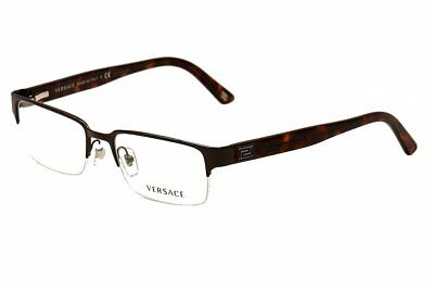 Versace Men's VE1184 Eyeglasses Brushed Brown 53 Millimeters