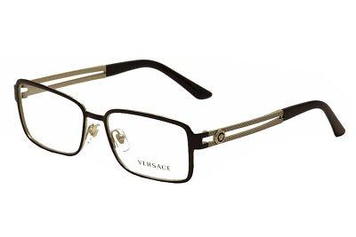 Versace Eyeglasses VE1236 VE/1236 1371 Black/Gold Full Rim Optical Frame 55mm