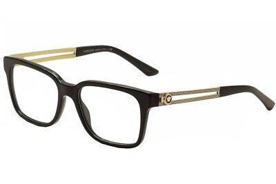 Versace Men's Eyeglasses VE3218 VE/3218 GB1 Black/Gold Frame Optical (Gold Versace Frames For Men)