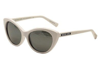 MICHAEL KORS WHITE CAT EYE MIRROR SUNGLASSES MK2014 30646G PARADISE BEACH WOMENS