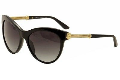Versace Women's VE4292 VE/4292 GB1/8G Black/Gold Fashion Cat Eye Sunglasses 57mm for sale  Shipping to India