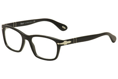 Persol Men's Eyeglasses 3012V 3012/V 95 Black/Silver Full Rim Optical Frame (Persol Frames Men)