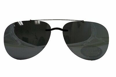 Silhouette Sunglasses Clip-On 5090 A2 0101 Polarized Blue Gray (Silhouette Clip On Sunglasses)