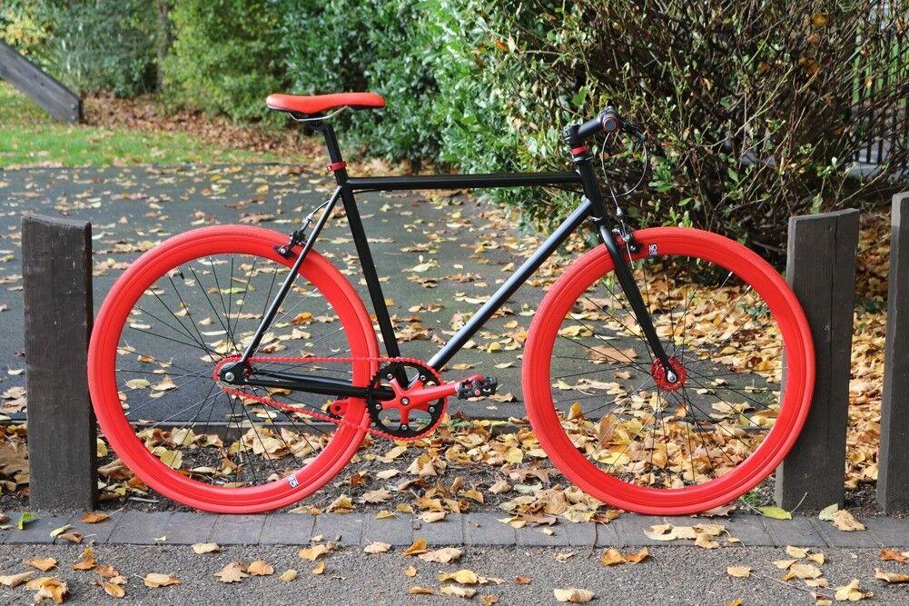 Brand new TEMAN single speed fixed gear fixie bike/ road bike/ bicycles + 1year warrantyq3