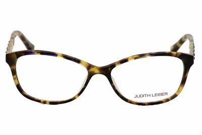 Judith Leiber Women's Eyeglasses JL1652 02 Rectangle Topaz Frames 53mm with Case