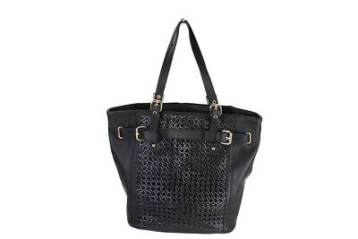 Big Buddha New Black Textured Belted Tote Bags Msrp $90 Clothing, Shoes & Accessories