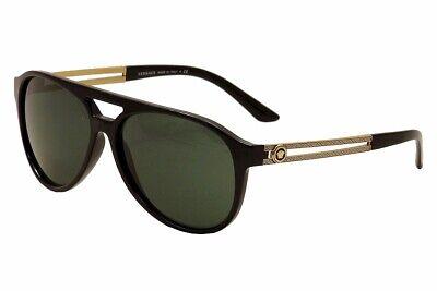 Versace Men's VE4312 VE/4312 GB1/71 Black/Gold Sunglasses 57mm