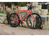 Brand new TEMAN single speed fixed gear fixie bike/ road bike/ bicycles + 1year warranty hh1