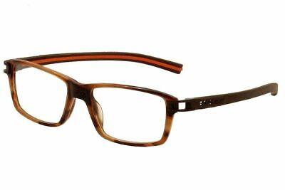 Tag Heuer Eyeglasses Track S TH7601 TH/7601 002 Brown/Orange Optical Frame -