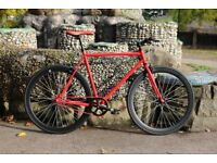 Brand new TEMAN single speed fixed gear fixie bike/ road bike/ bicycles + 1year warranty qt3