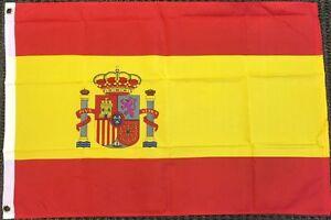 3X5 Spain Flag Premium Polyester Grommets Banner Spain National FAST US SHIPPING