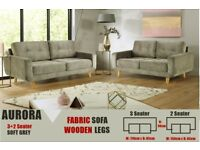 CASH ON DELIVERY BRAND NEW FABRIC MODREN AURORA 3+2 SEATER SOFA