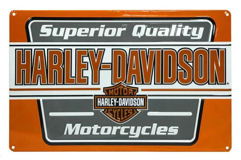 Harley-Davidson Superior Quality Motorcycle Tin Sign, 17.5 x 11 inches 2011201