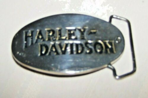 Rare HARLEY DAVIDSON Belt Buckle Vintage 1983 H-301 Solid Baron Brass Polished