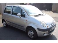 2001 DAEWOO MATIZ 800cc Petrol, Full 12 Months MOT, Very Low 47k Miles, Air bags, Sony CD