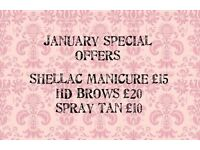 beat the January blues with our special beauty prices