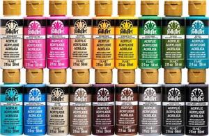 NEW FolkArt Acrylic Paint in Assorted Colors (2-Ounce), PROMOFAII Colors II (18-Pack)