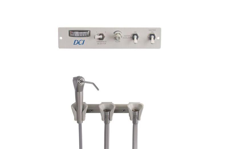 DCI Panel Flush Mount Manual Control Dental Delivery Unit 2 Handpiece & Syringe