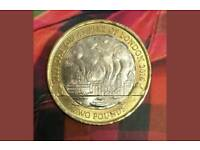 Rare 2 pounds coin