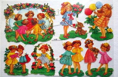 Glanzbilder Oblaten ~  ef 7167 Spielende Kinder Scrap Poesie Albumbilder