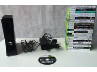 Black Xbox 360 Elite With 17 Games - No Controllers - Working - Enderby - STA21