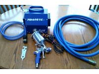 Fuji Mini-Mite 4 HVLP Spray System // with T75 Gravity Feed Gun + Whip Hose