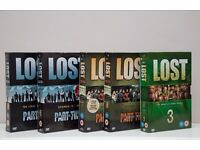 """LOST"" DVDs - Series 1 part one & two. - Series 2 part one & two. - Series 3."