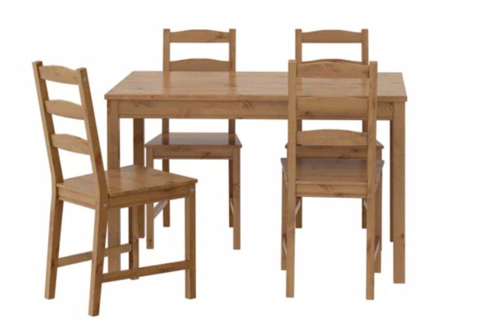 Ikea JOKKMOKK Dining table with four chairs
