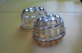 Two Small Vintage Glass Jelly Moulds