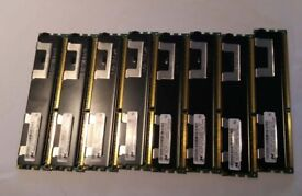 ECC DDR3 12GB 3x4GB - 30, 32GB 8x4GB - 60gbp, Registered 10600R 8500R server and workstation memory