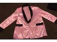 Men's pink teddy boy outfit jacket