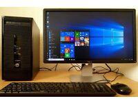 "High Spec HP Intel Core i3-4150 PC Setup,6GB DDR3 RAM+Dell23""LED,Wifi,win 10 64 Bit Desktop/Computer"