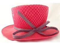 Debut Ramie & Parisisal Hot Pink Formal Hat Originally £60