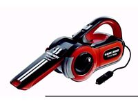 Black and Decker PAV1205 Dustbuster Pivot Auto 12V Car Vacuum Cleaner Hoover
