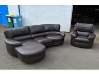 Brown swivel recliner corner sofa and motorized recliner chair DELIVERY AVAILABLE