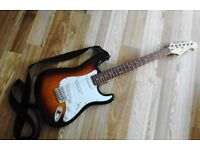 Stratocaster Style Sunburst Electric Guitar Cruiser By Crafter