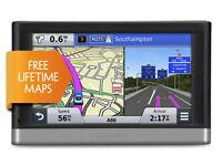 "Garmin Nuvi 2567LM 5"" Inch GPS Sat Nav Bluetooth UK & Western Europe Lifetime Maps Speed Cameras New"