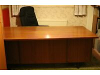 Vintage executive cherry / teak wood desk