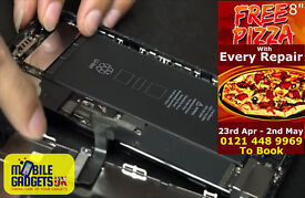 Free Pizza With Every Repair iPhone iPad iPod & All Various Devices Repaired Whilst Your Wait.