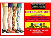 FRIDAY 10th NOVEMBER - 60s 70s SOUL / REGGAE / MOTOWN with DOUBLE BARREL – SARTAN BISHOPSWORTH