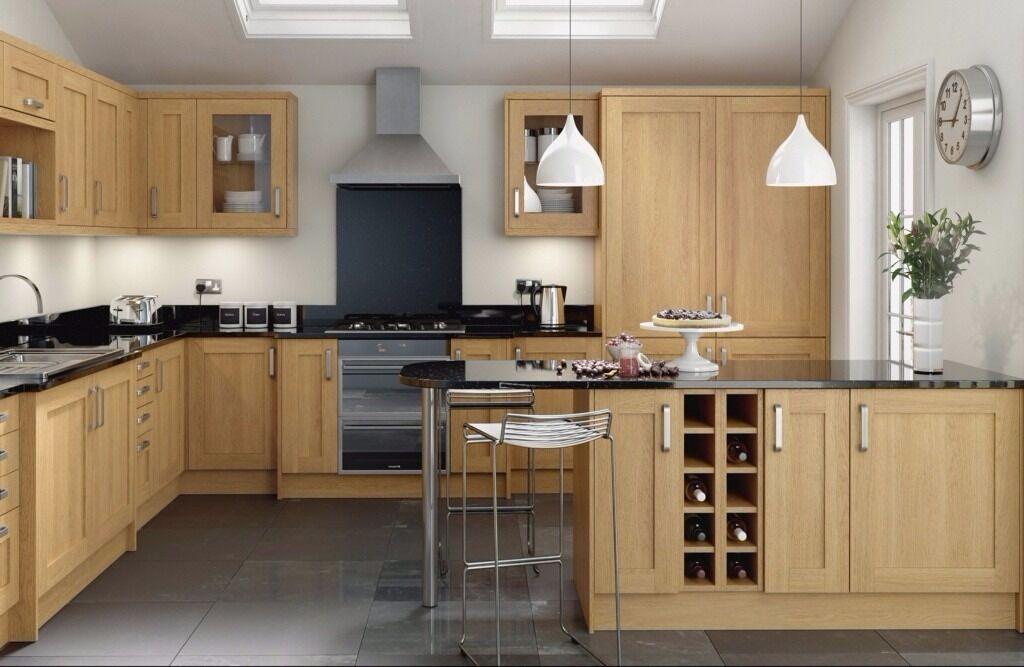 7 Piece Kitchen Units - Oak Shaker - BRAND NEW