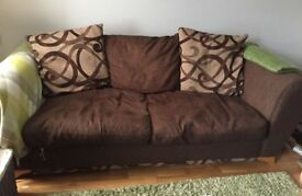 Brown 3 Seater Sofa.