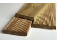garden decking boards 2.4m 5x1 treated/ribbed