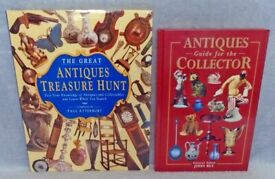 £5 BOOKS THE GREAT ANTIQUES TREASURE HUNT PAUL ATTERBURY & COLLECTORS GUIDE JOHN BLY