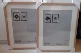 NEW IKEA Picture Frames x2 (40x50cm) - beech effect