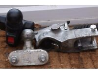 DOUBLE LOCK 50MM COUPLING HEAD BRADLEY WITH TOWBALL AND COVER EXCELLENT USED CONDITION £60 CAN POST
