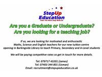 Graduate & Undergraduate Tutors Required Urgently !!
