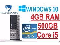 Dell OptiPlex desktop i5 3.1Ghz 4GB Windows 7 Professional Desktop Computer