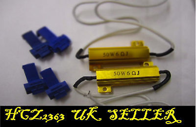 2x 50w CAR LOAD RESISTORS FOR LEDS FAST FLASH ERROR CLEARED